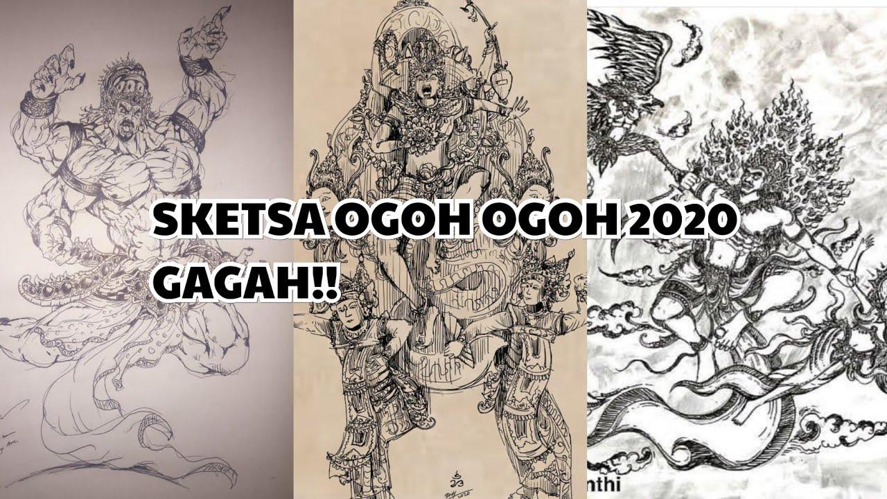 Sketsa Ogoh Ogoh 2020 GAGAH Part 2