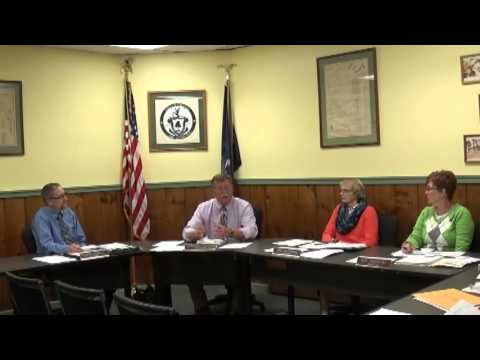 Champlain Village Board Meeting  10-5-15