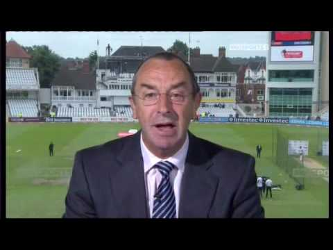 David Lloyd in the papers after bowling fiipper in the commentary box