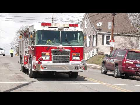 Engine 1 arriving to a reported house fire, Whitehall, PA 03/09/18