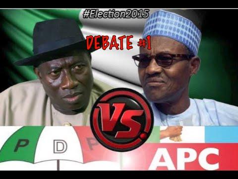 Download Goodluck Jonathan v Buhari Nigerian Presidential Debate #1 by TheTouts