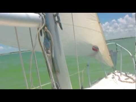 Navigating the Narrow Shallows  - Compac 23 Mullet Key Tampa Bay Florida