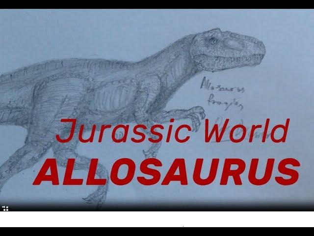 How to draw Allosaurus from Jurassic World. Jak narysowa? allozaura z JW.