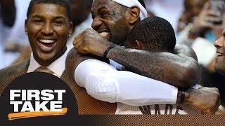 Could LeBron James rejoin Dwyane Wade on Heat? | First Take | ESPN
