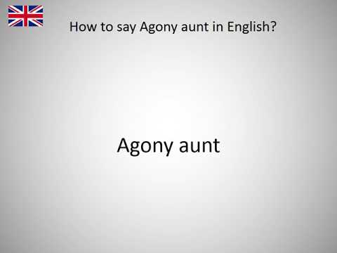 How to say Agony aunt in English?