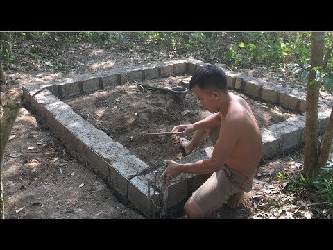 Primitive technology with survival skills Wilderness build house Roman part 1