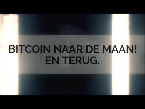 Bitcoin naar de maan! En terug.