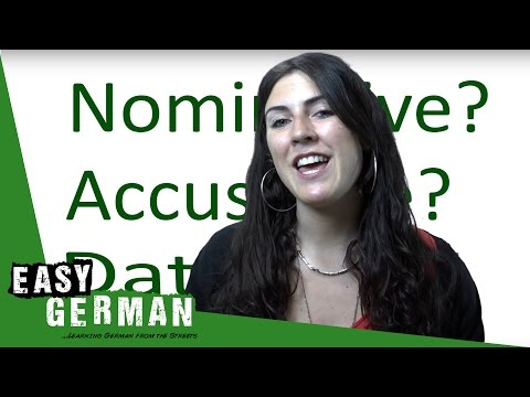 What is the nominative, accusative and dative case? - German for beginners (2)
