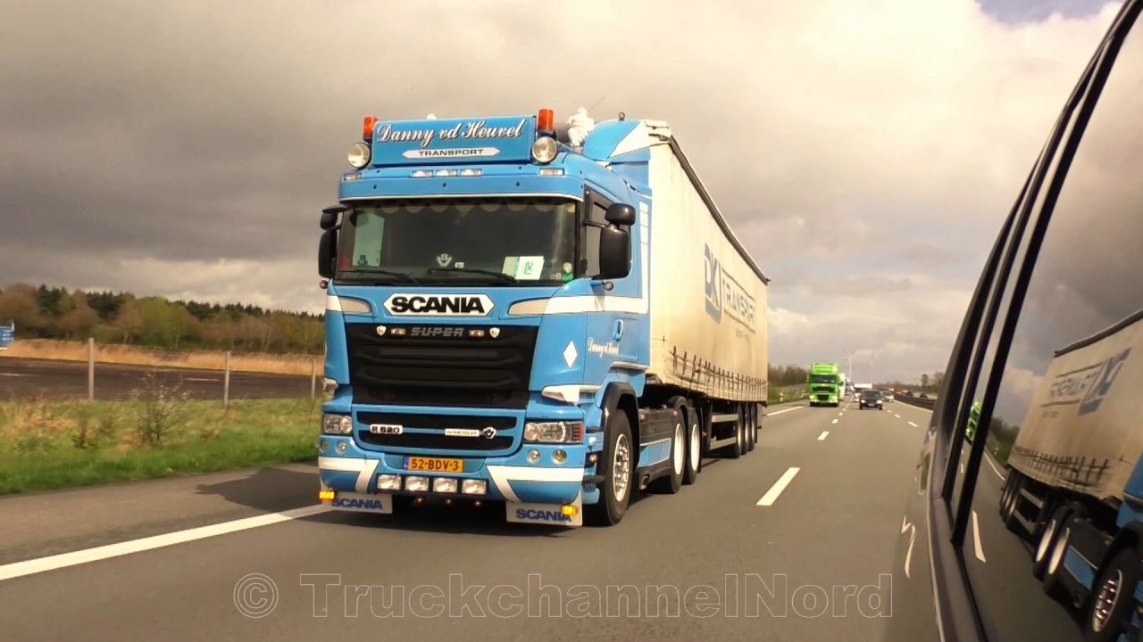 Daf Scania Scania V8 Daf Xf Volvo Fh Dkj Transport With Heavy Load Hd