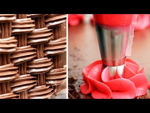 Amazing Cake Decorating with Piping Tips | Easy Cake Ideas COMPILATION