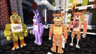 ANIMATRONICS AT A HAUNTED HOTEL IN MINECRAFT! (RedHatter FNAF Minecraft)