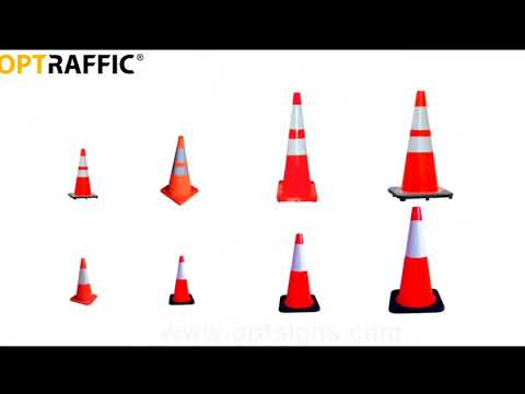 Plastic Traffic Safety Road Cones For Sale Reflective And Flexible