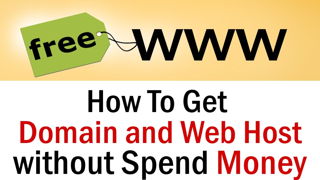 How to get Domain and Web host without spend money | 100% free website