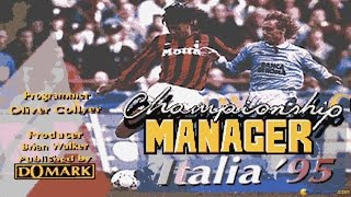 Championship Manager 1995 gameplay (PC Game, 1995)