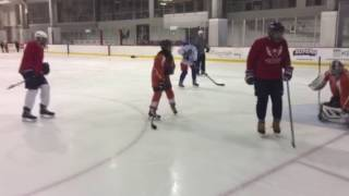 washington wheelers dc blind hockey practice capitals iceplex
