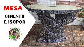 DIY - MESA DE CIMENTO E ISOPOR IMITANDO MADEIRA