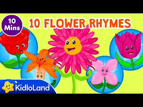 Top 10 Flower songs for kids | Preschool children Flower Rhymes Collection | Kidloland