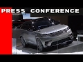 Land Rover & Jaguar Press Conference at the Geneva Motor Show 2017