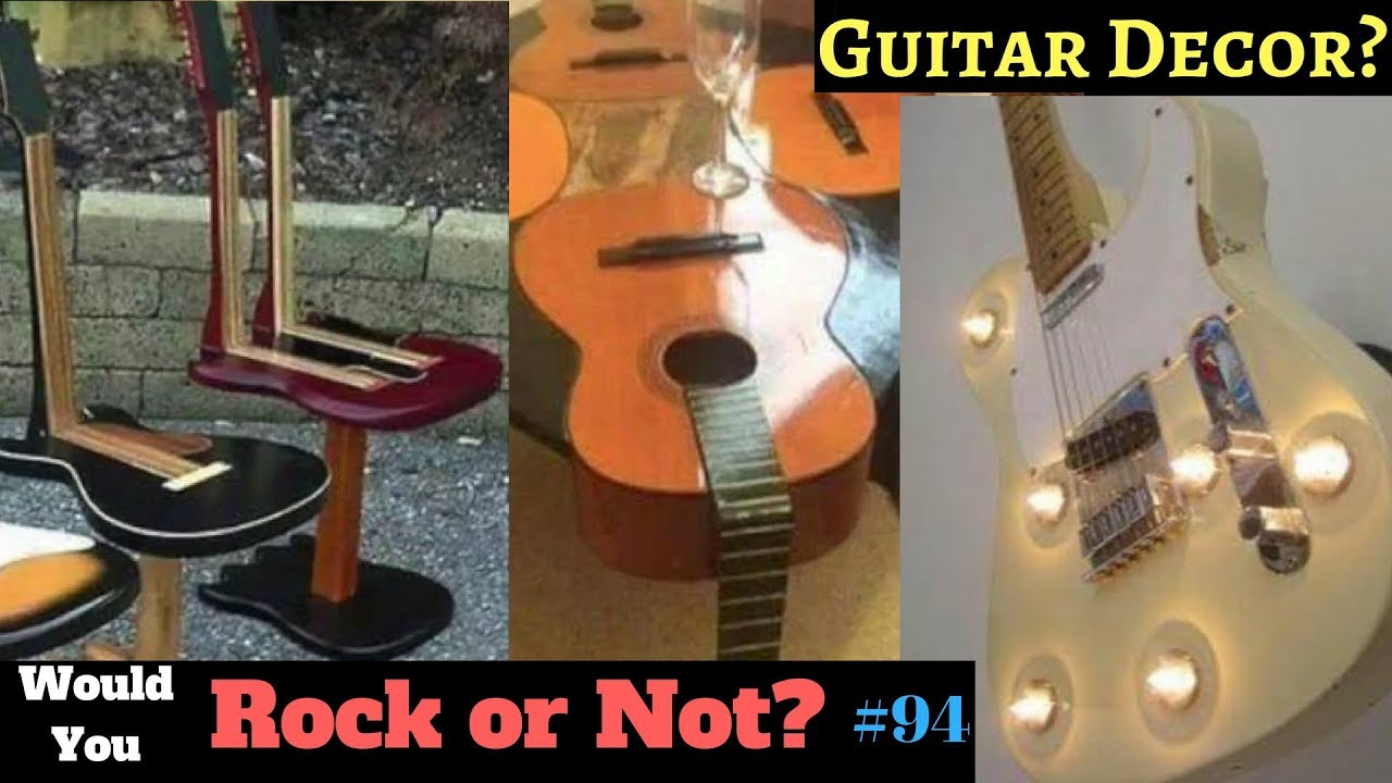 Destroy Your Guitars For Home Decor Guitar Room Decorations And Upcycle Ideas Wyron Ep 94