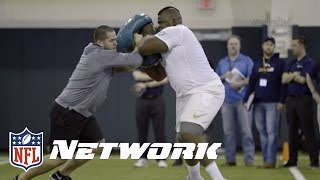 LaQuan McGowan Auditions for 3 Positions | Undrafted | NFL Network