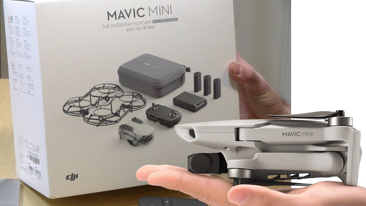 DJI Mavic Mini Unboxing - Fly More Bundle Combo - YouTube