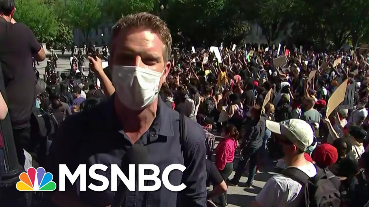 Protest Outside White House 'Tense But Peaceful' | MSNBC