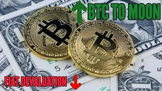 Bitcoin price increase and Fiat decreases day by day!!