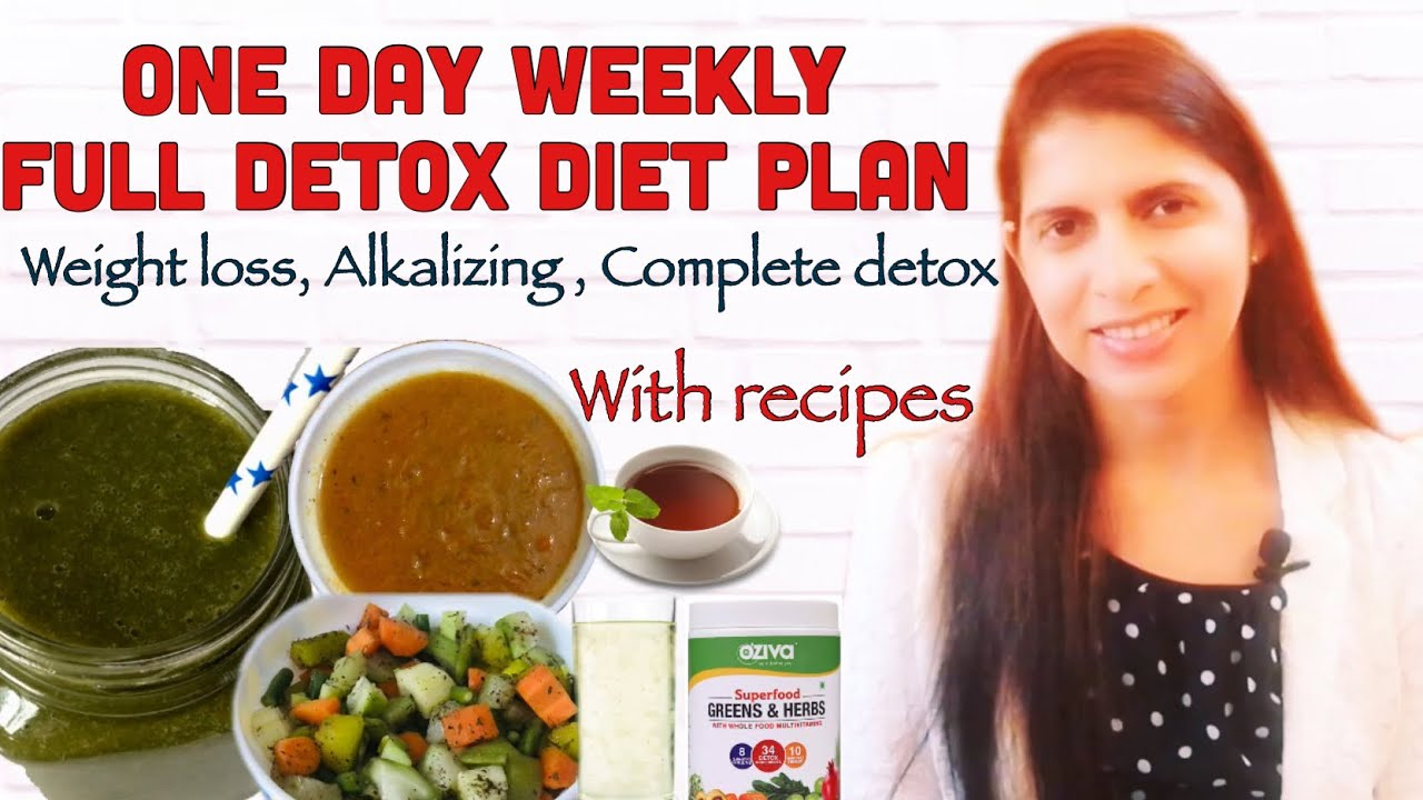 Weekly One Day Detox Diet Plan | Full day Detox Breakfast, Lunch, Dinner  Recipe | Weight Loss