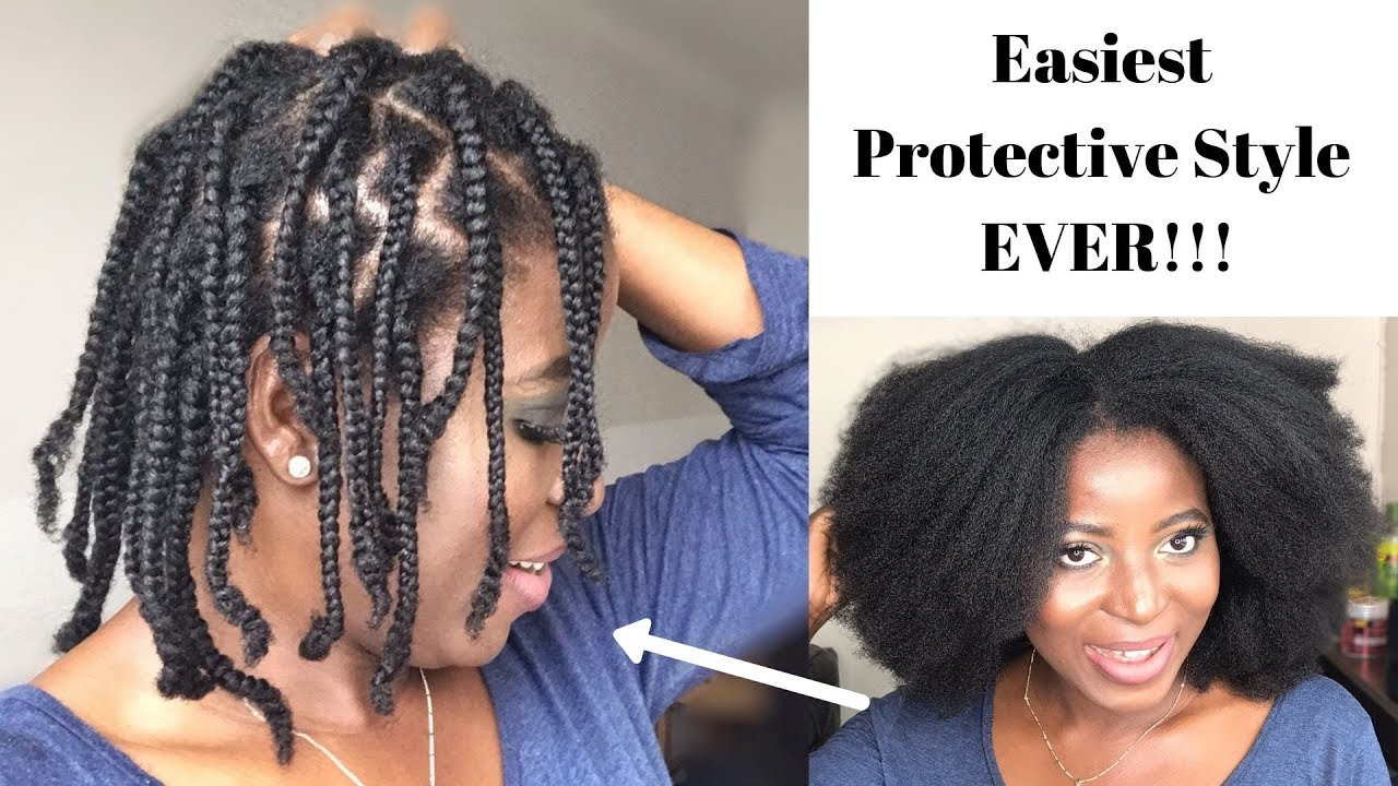 No Extensions Midi Braids On My Thick 4c Hair Kenny Olapade Youtube
