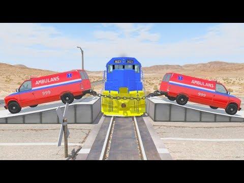 Машинки останавливают поезда - Мультик игра про машины для мальчиков