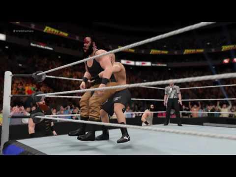 WWE 2K17 brock lesnar sends braun strowman to suplex city