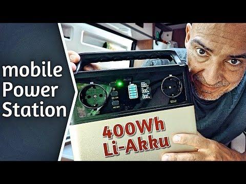 Mobile Stromversorgung Energiespeicher 300W 400Wh Lithium-Ion Hochleistungsakku