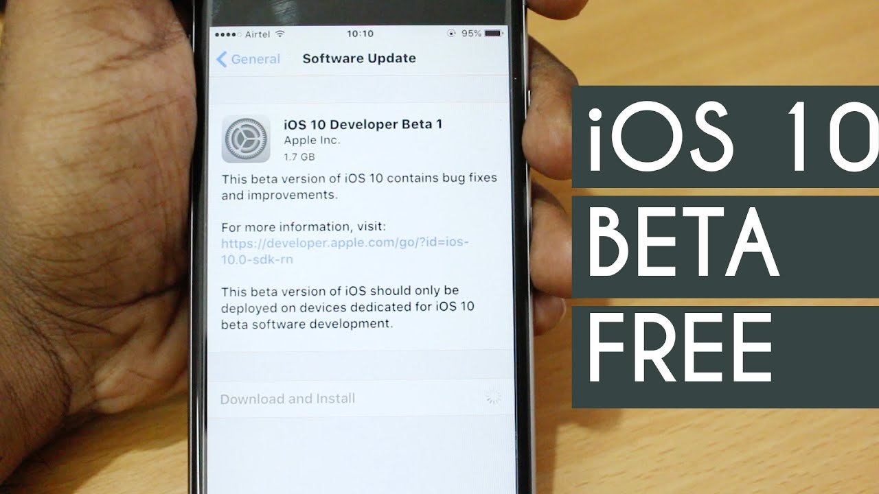 How to install iOS 10 Beta On Any iPhone for FREE ( WITHOUT COMPUTER )