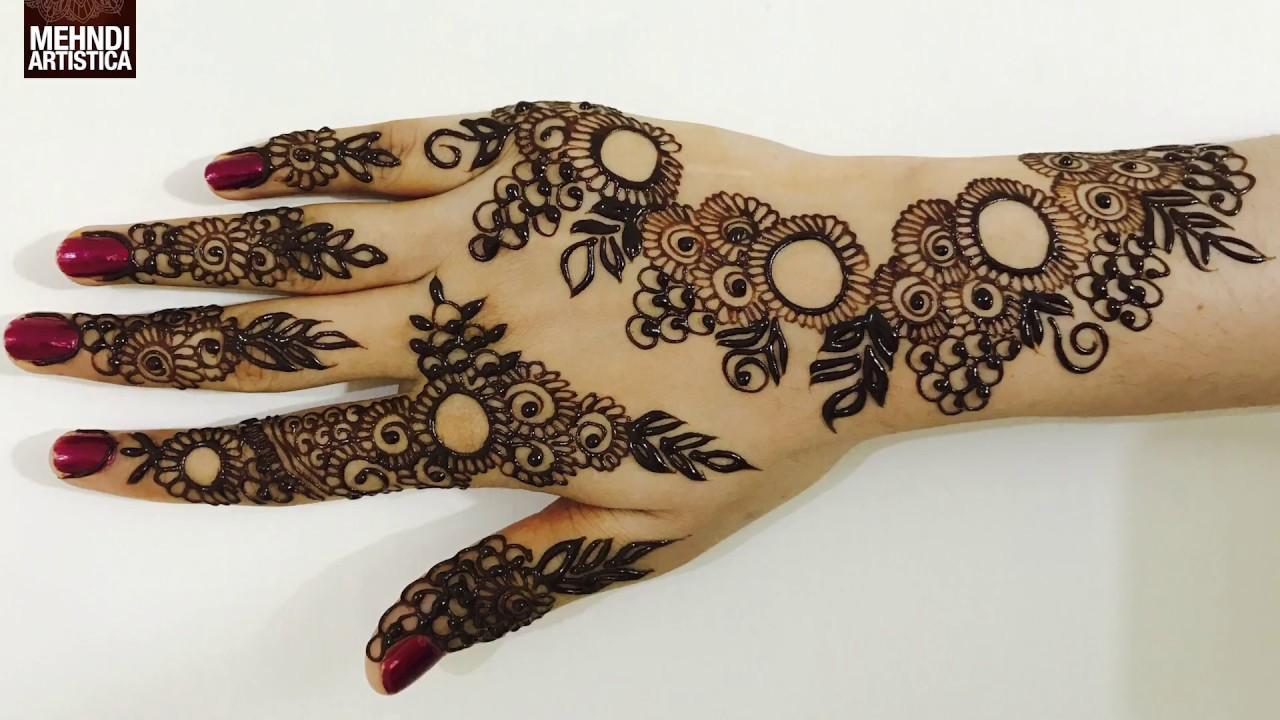 Mehndi Hand Image : Full hand mehndi design tutorial front step by indian