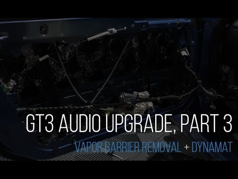 991 GT3 Audio Upgrade  Part 3:  Vapor Barrier Removal & Dyna