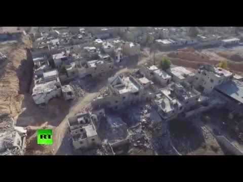Apocalyptic Scenes: Drone footage shows destruction in Jobar, Damascus