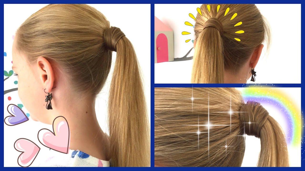 Mit Haaren Umwickeltes Zopfgummi 2 Varianten Ohne Haarnadeln