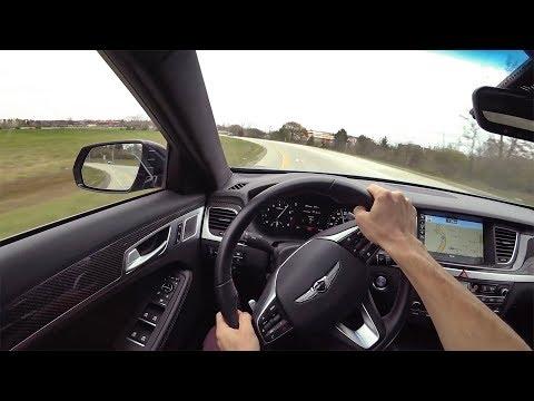 2018 Genesis G80 3.3T Sport RWD POV Driving Impressions Binaural Audio