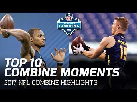 Top 10 2017 NFL Scouting Combine Moments! | NFL