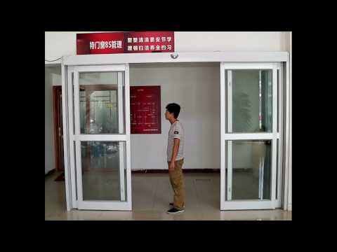 Automatic sliding door operator with Emergency push function