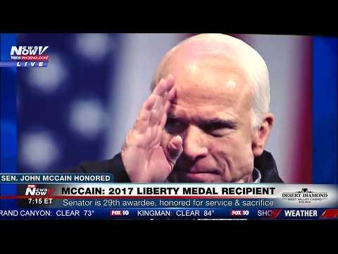 WATCH: Peers Honor the Life of Sen. John McCain at Liberty Medal Ceremony (FULL VIDEO) FNN