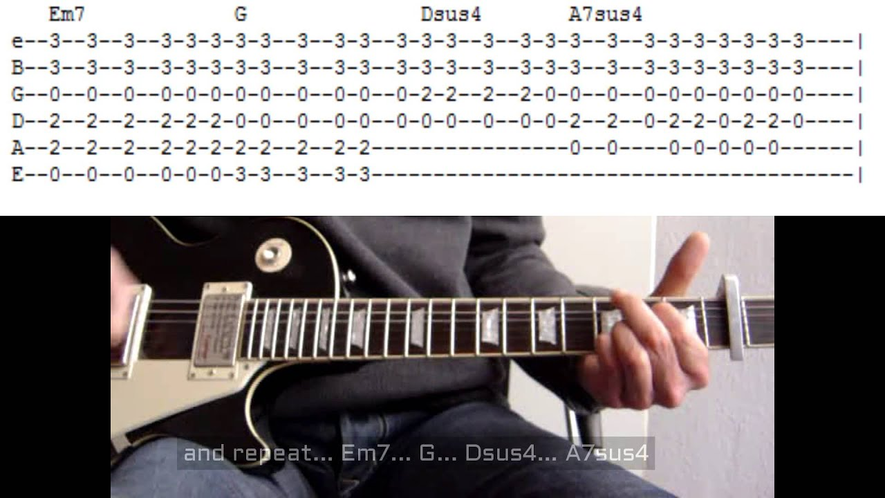 Fabuleux Wonderwall by Oasis, guitar lesson with tab - YouTube FD33