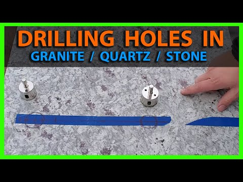 How To Drill Holes in Granite or Quartz Countertop & Vessel Sink Placement