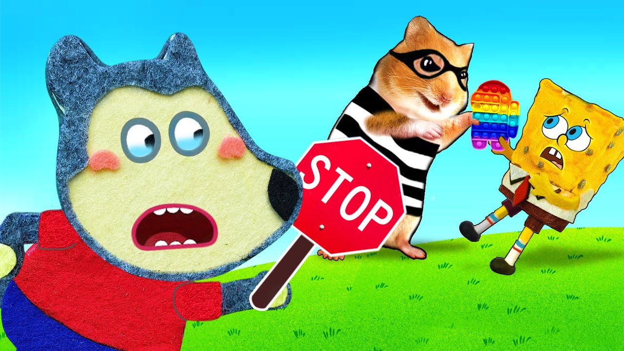 No No, Hamster! Do not bully Spongebob - Wolfoo Rescues in Cartoon Hamster by Life Of Pets Hamham