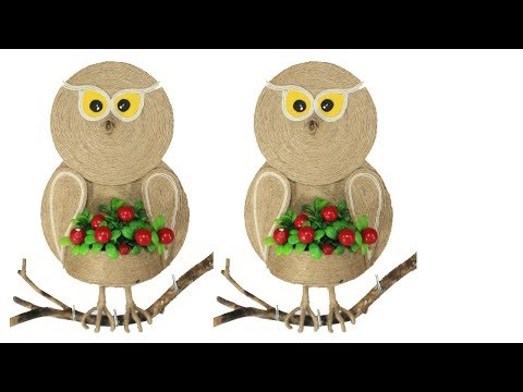 Jute craft wall hanging | Owl on the wall
