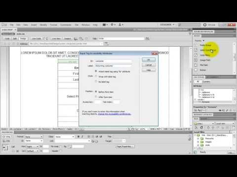 Build a Web Form in Dreamweaver