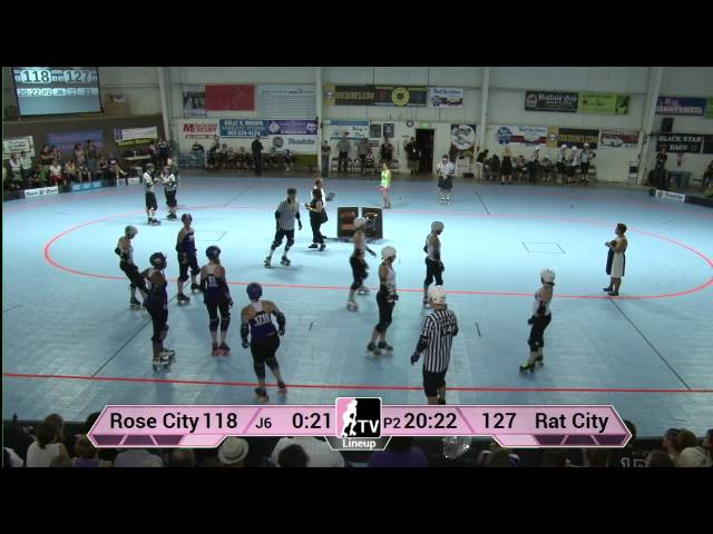 Rose City Rollers - Wheels of Justice vs Rat City All-Stars 2013