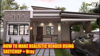 Baixar ✅How to make Realistic render in Sketchup & Vray | DanTV