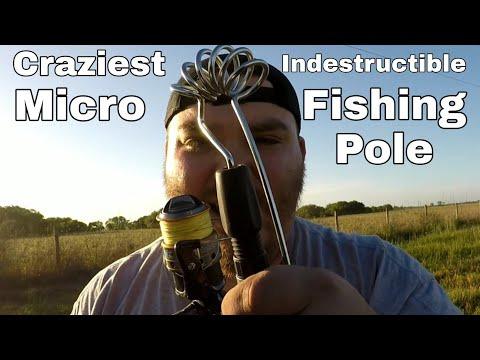 CRAZIEST INDESTRUCTIBLE MICRO METAL FISHING POLE | EMMROD KAYAK KING
