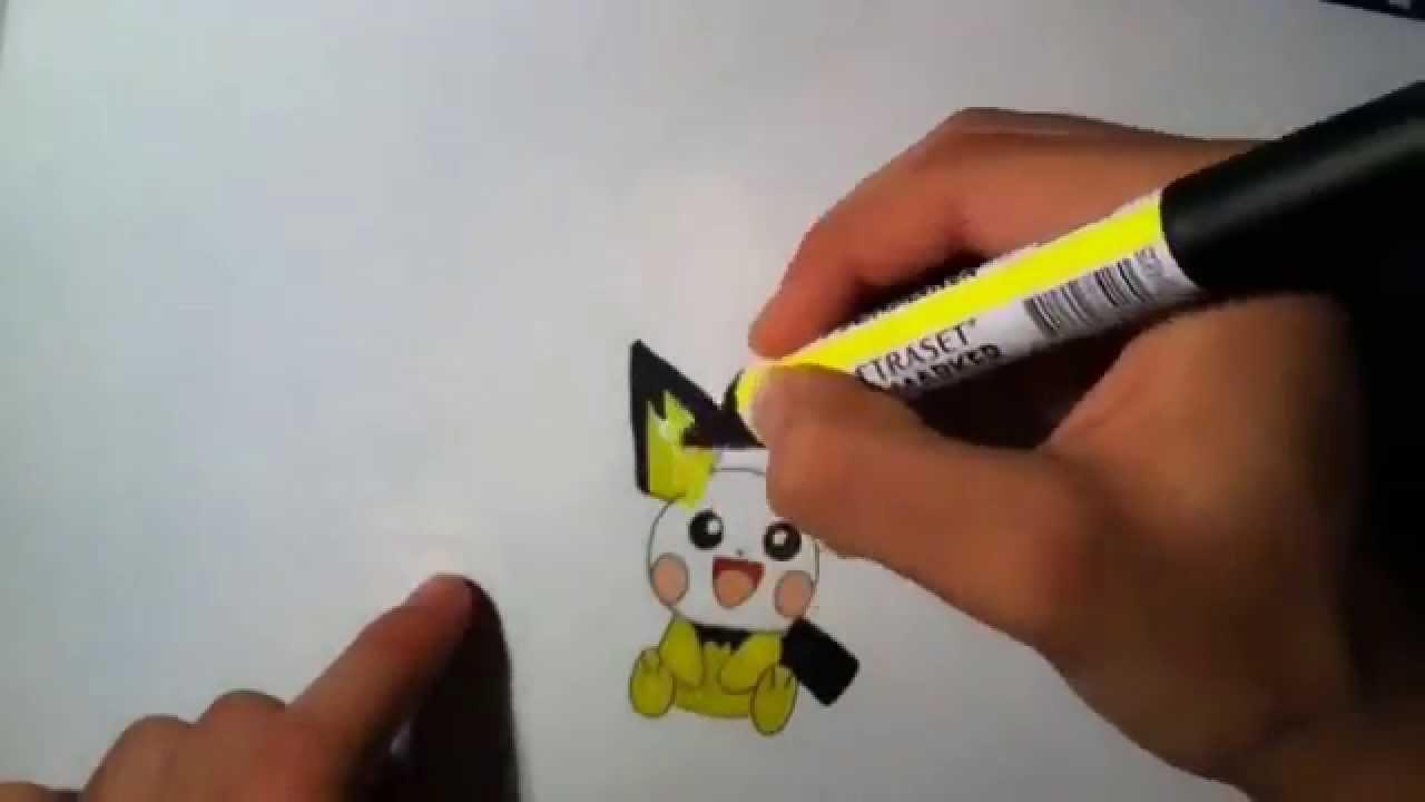 Comment Dessiner Pikachu Pichu Et Raichu How To Draw Pikachu Pichu And Raichu From Pokemon